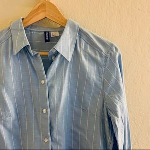 H&M Blue pin-striped button up